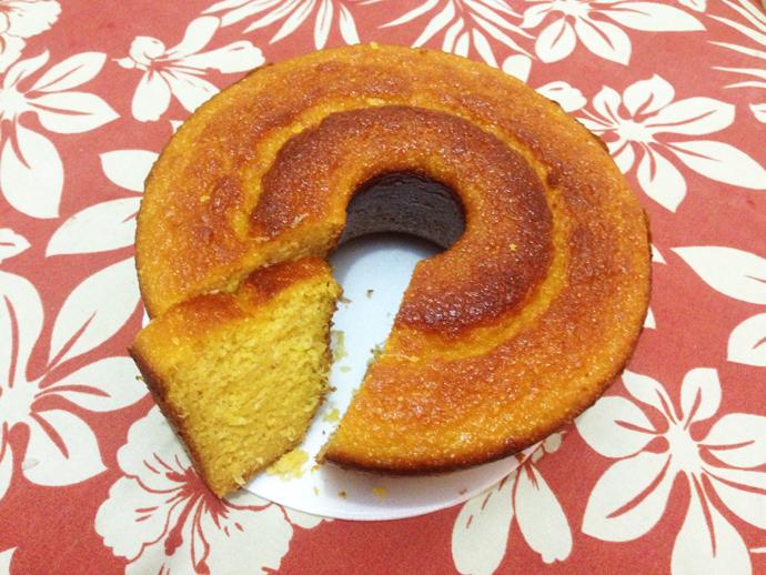 O bolo de milho na Casa de Bolos, fofinho e felpudo